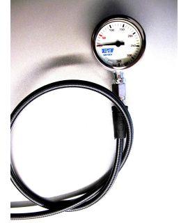 DEEPSTOP Mineralmanometer OXYGEN mit Miflex-HD Schlauch