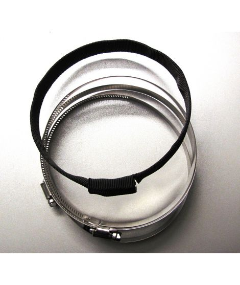 4x hoseclamp and webbing  for 7 Liter steel
