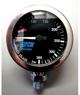 DEEPSTOP Oxy-Manometer Black