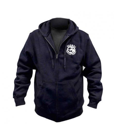 GUE Navy Zipper Hoodie - EU Version