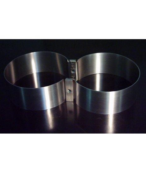 V4tec Edelstahlschellen für Doppel 7-mit schmaler Brücke 154mm