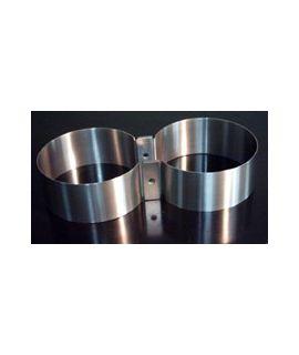V4tec Edelstahlschellen für Doppel 10/12 Liter mit 172 mm