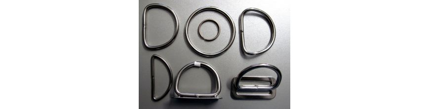 Stainless Steel Rings and D-Rings
