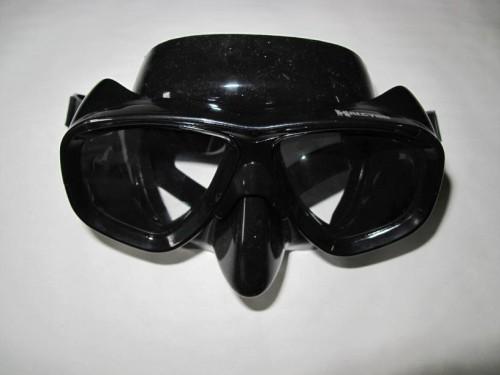 Optische Gläser in Tauchmaske